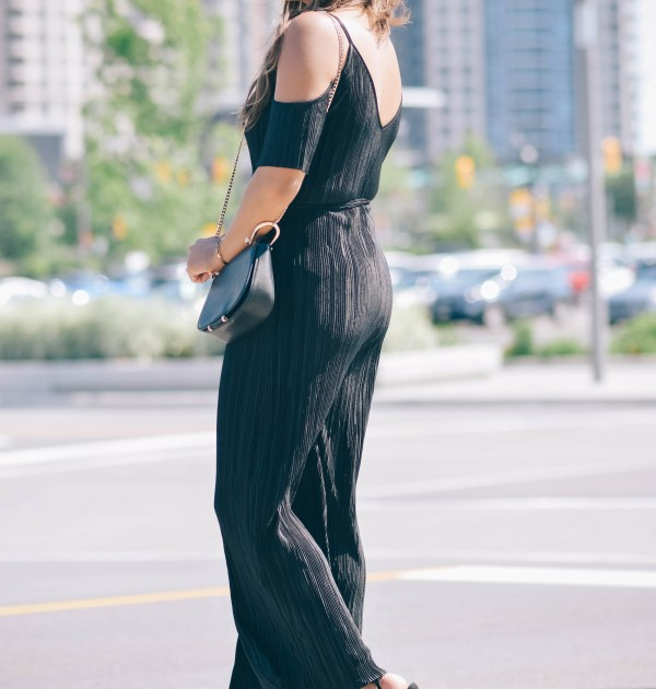 Style Blogger Lauren Sheriff Wearing a Jumpsuit by Shein