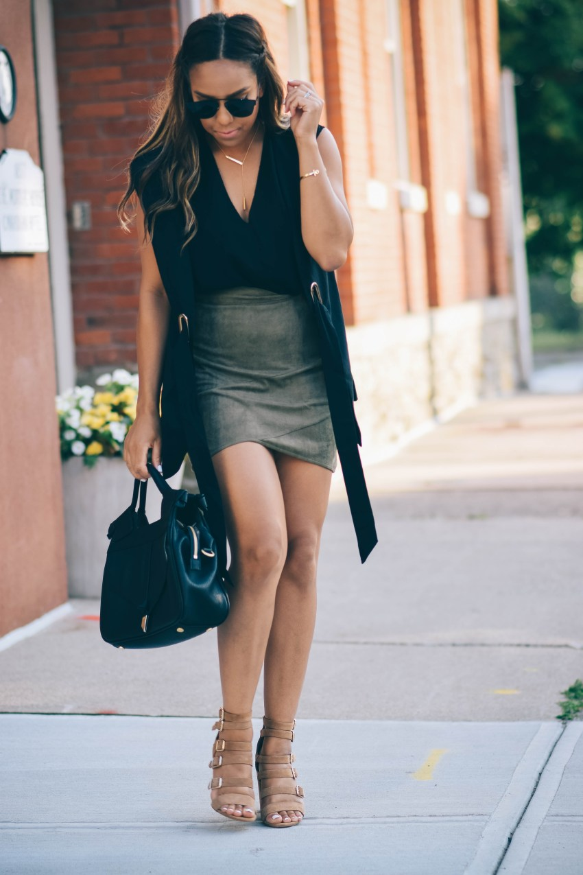 Suede Skirt Missguided