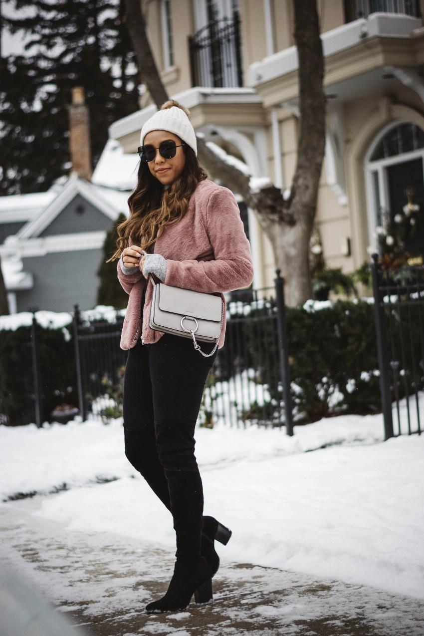 Blush Faux Fur Jacket