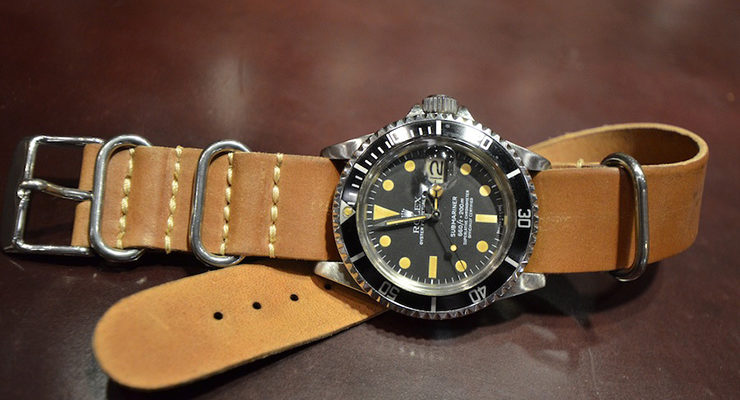 rolex-submariner-on-nato-strap-brown