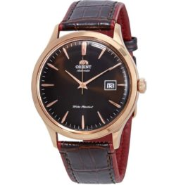 Orient Bambino Gen 2 Version 4 - Black dial - Gold Case - FAC00006B0