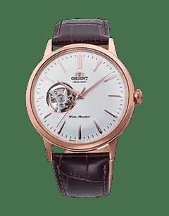 Orient Bambino Open Heart - White dial - Rose Gold Case - RA-AG0001S10A