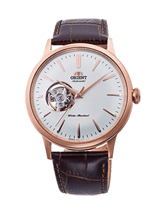 Orient Bambino Open Heart - White dial - Rose Gold Case - RA-AG0001S10A