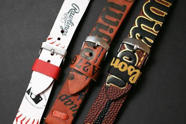Baseball glove and ball NFL ball sports straps by Maverick Custom Handmade