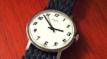 Clockwork Synergy Black Double Braided Perlon Strap