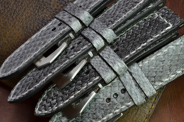 Neptune Straps Salmon Leather Watch Straps