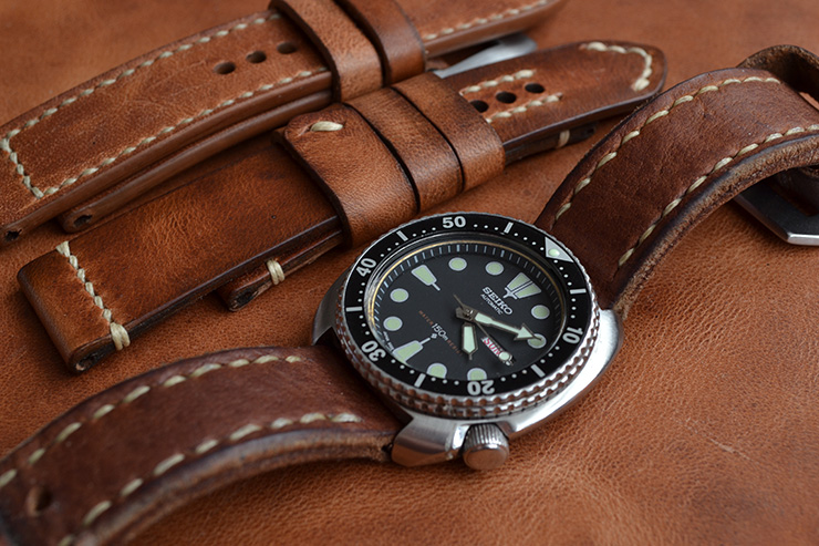 Small brand spotlight neptune straps basic bands for Violet leather strap watch