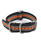Art Style Grey and Orange NATO Strap on Amazon