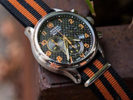 Barton Watch Bands Black and Orange NATO Strap on Wenger