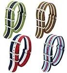 CIVO Nato watch strap 4-pack on Amazon - striped