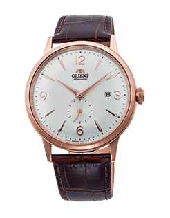 Orient Bambino Small Seconds - White Dial - Rose Gold Case Model Number RN-AP0001S10A