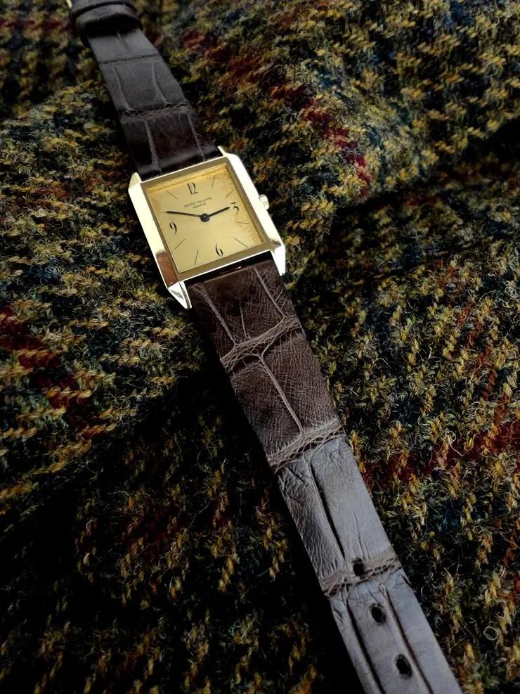 Tourbe Brune Alligator Watch strap for Vintage Patek Philippe