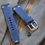 Custom Blue Canvas Watch Strap by Red Rock Straps