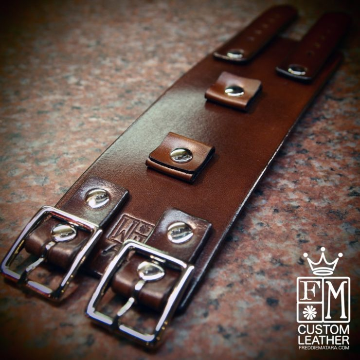 Custom Brown Leather Watch Strap by Freddie Matara