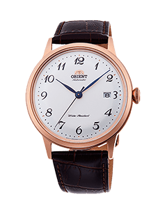 Orient Bambino Version 5 - White dial - Rose Gold Case - RA-AC0001S10A