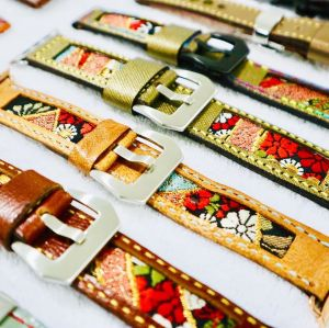 A collection of custom watch straps by 47Ronin Straps
