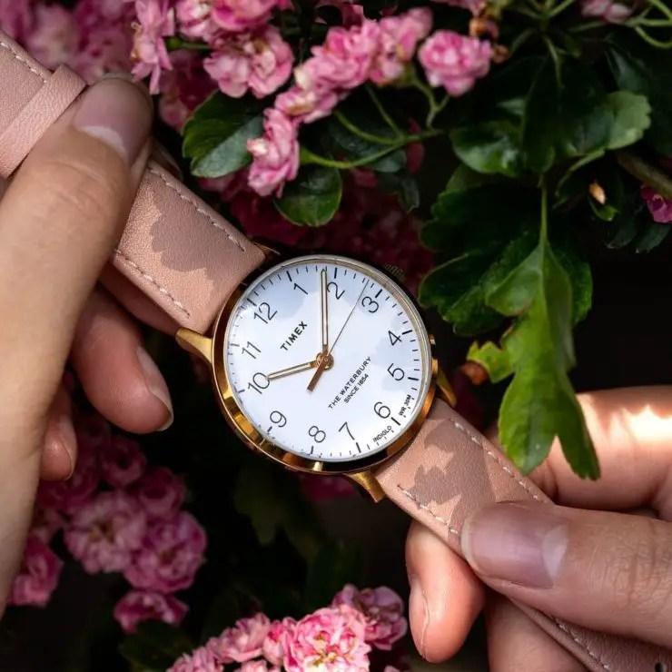 Timex Waterbury watch on a Watch Gecko Bexley slim watch strap
