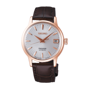 Seiko Presage Cocktail Time - Bellini - White Dial Gold Case - SRP852