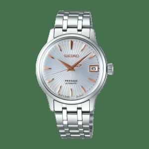 Seiko Presage Cocktail Time - White Dial Gold hands - Bracelet - SRP855