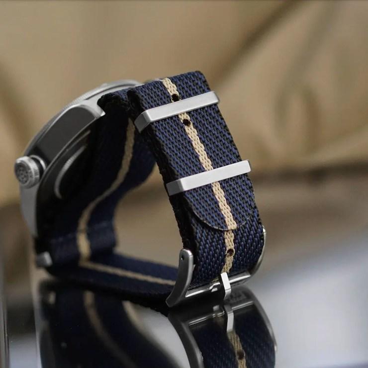Hybrid Sand Woven Fabric Tudor NATO Strap