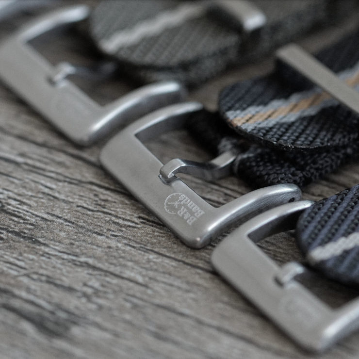 B&R Bands Woven Fabric Buckle Logo