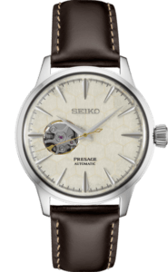 Seiko Presage Cocktail Time -Honeycomb Dial on Leather - SSA781 - Ladies Version