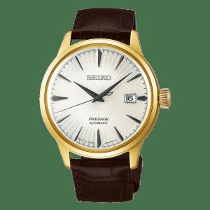 Seiko Presage Cocktail Time - Margarita - Gold Case - Grey Hands- SRPB44