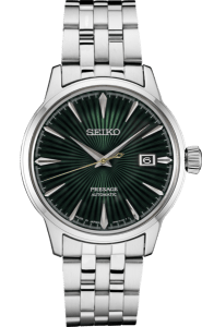 Seiko Presage Cocktail Time - Mockingbird - Green Dial on Bracelet - SRPE15J1