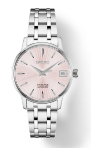Seiko Presage Cocktail Time -Pink Dial on Bracelet - SRP839
