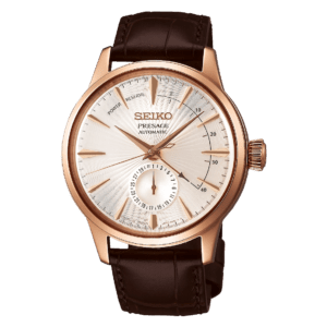 Seiko Presage Cocktail Time -Side Car - Warm Grey Dial - Gold Case - Power Reserve -SSA346
