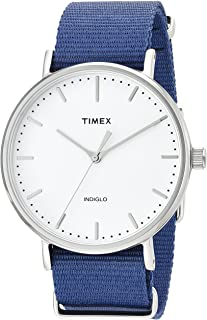 Timex Fairfield White Dial Fabric Strap