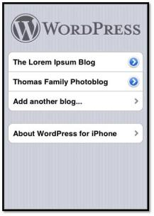 iPhone apps for WordPress