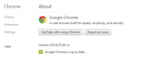 Google Chrome version 23