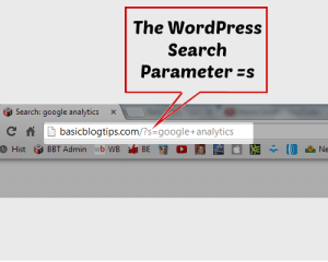 WordPress Search parameter s