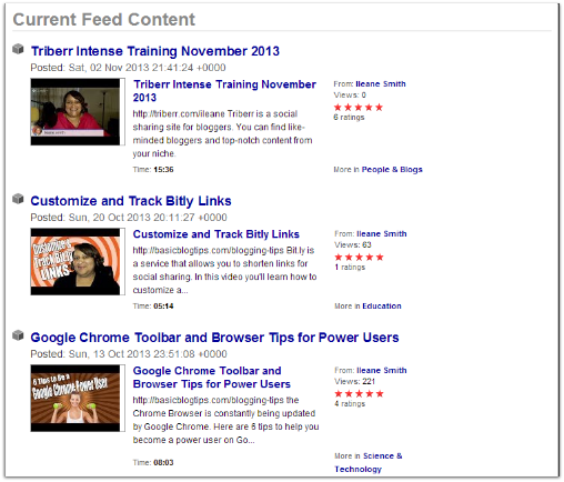 YouTube RSS Syndication in Feedburner