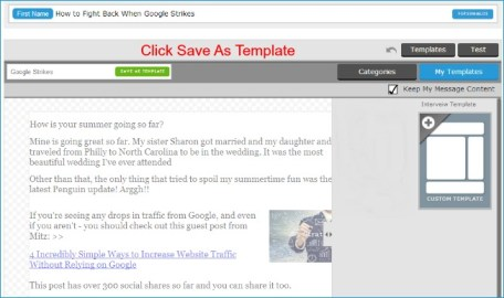 Create an Email template in AWeber