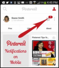 Little Red Pinterest Notifications on Mobile via @BasicBlogTips