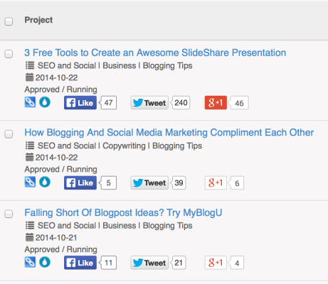 My Projects in Viral Content Buzz