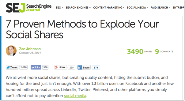 Brilliant Ways To Get More Blog Social Shares