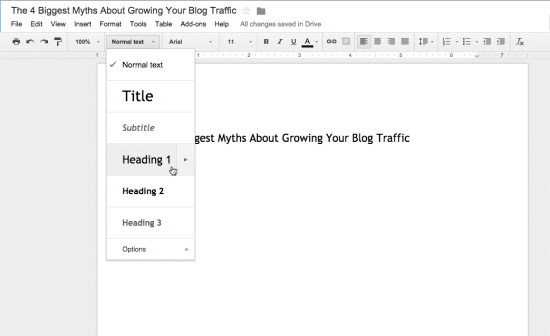 Formatting Word Docs for Your Blog