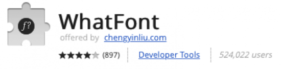whatFont Extension for Chome