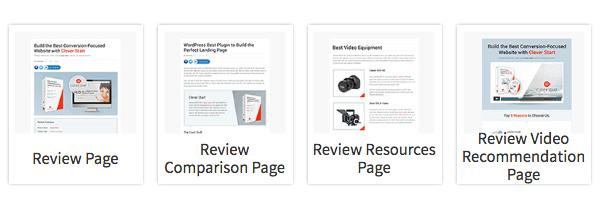 Afiliate Landing Page Templates