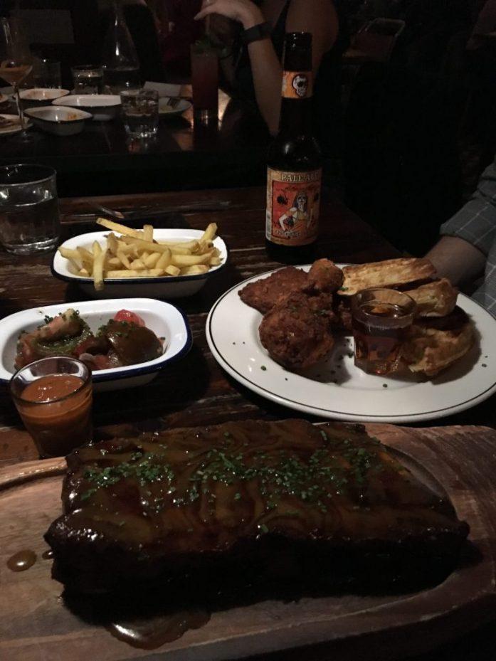 Dinner at Dirty Bones in Kensington