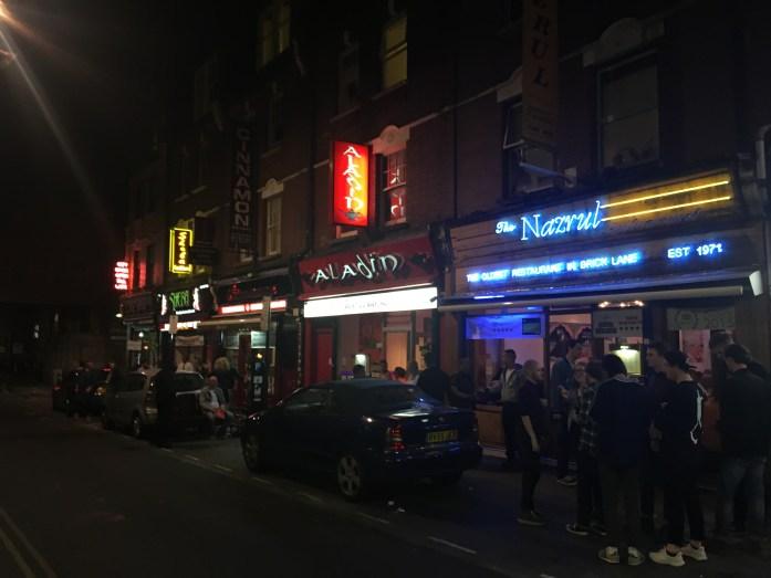 Aladin, Indian restaurant on Brick Lane