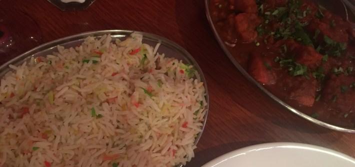 Indian food at Aladin