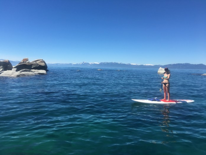 Cheap paddle board tour in Lake Tahoe booked through Travelzoo!