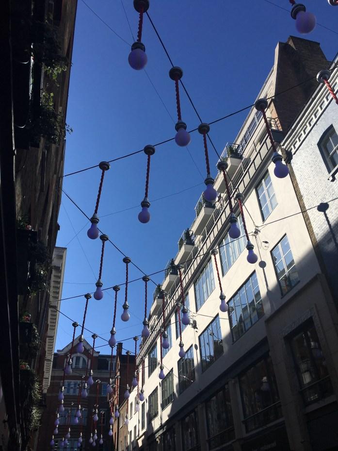 Light installation in Soho