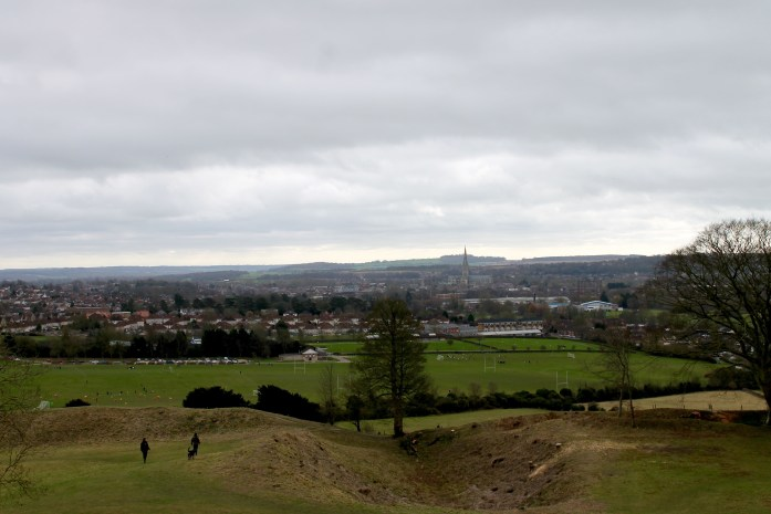 View of Salisbury from Old Sarum