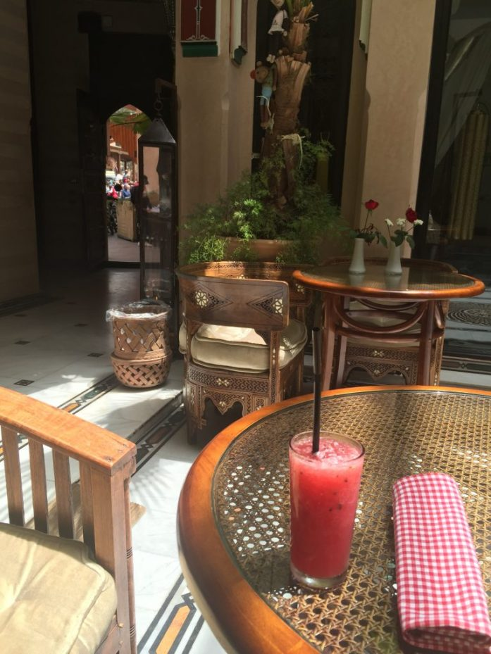 Watermelon drink at Dar Anika Marrakech