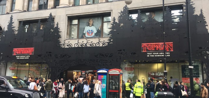 Stranger Things at Topshop, london